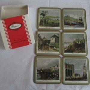 Pimpernel Set Of 6 Coasters of Quebec-New in Box
